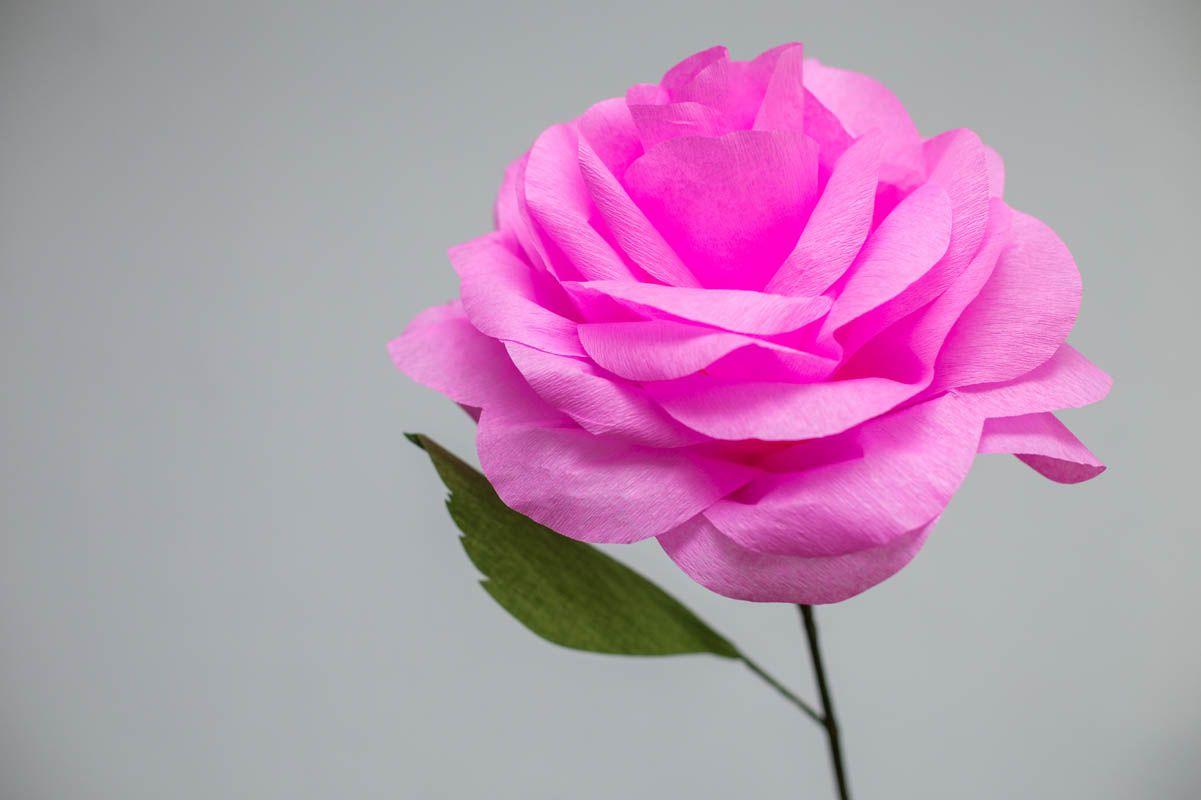Ce spui de un trandafir uriașde hârtie în locul clasicului buchet de mireasă?