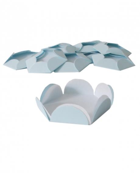 Chese bleu pastel cupcake candy bar set 14 buc
