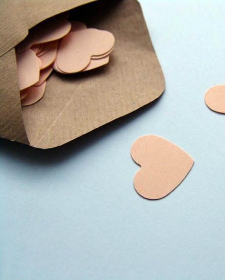 Confetti inimioare somon set 50 buc