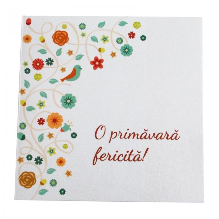 Felicitare martie floricele