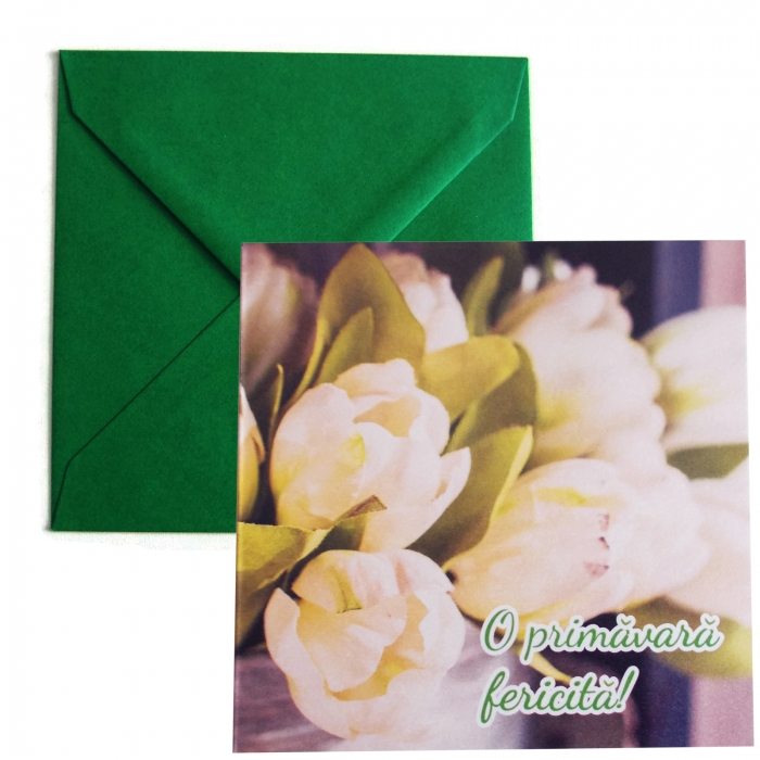 Felicitare martie lalele albe