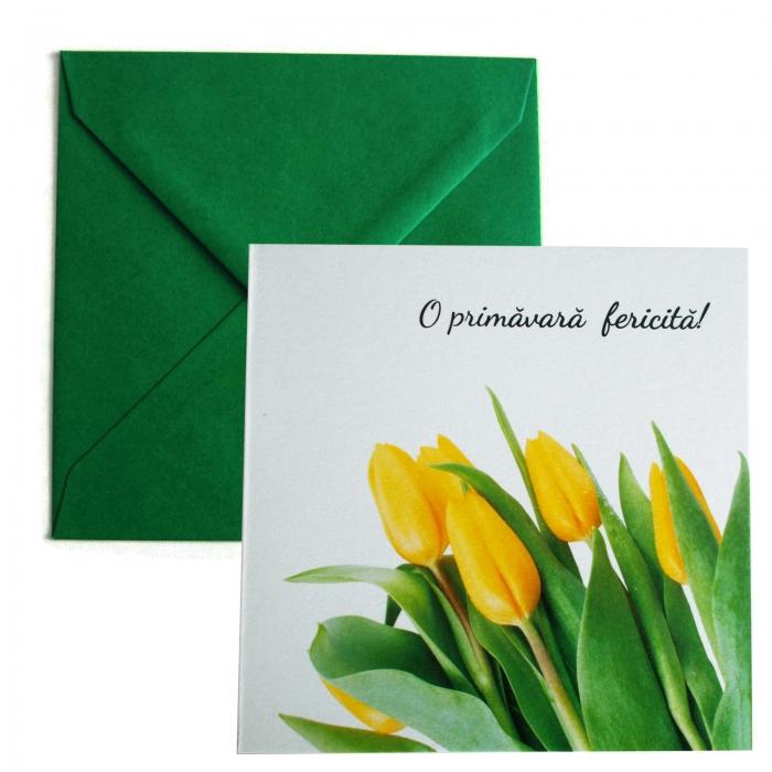 Felicitare martie lalele galbene 0