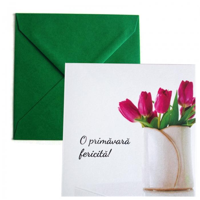 Felicitare martie lalele lila