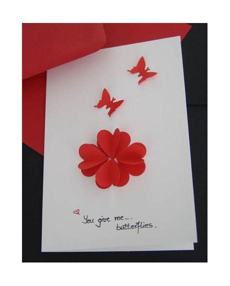 Felicitare Valentine / Dragobete BUTTERFLIES 1