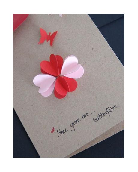Felicitare Valentine / Dragobete BUTTERFLIES 2