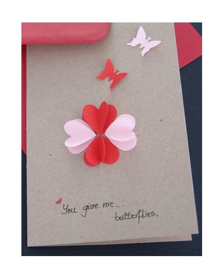 Felicitare Valentine / Dragobete BUTTERFLIES 0