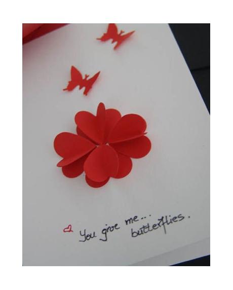 Felicitare Valentine / Dragobete BUTTERFLIES