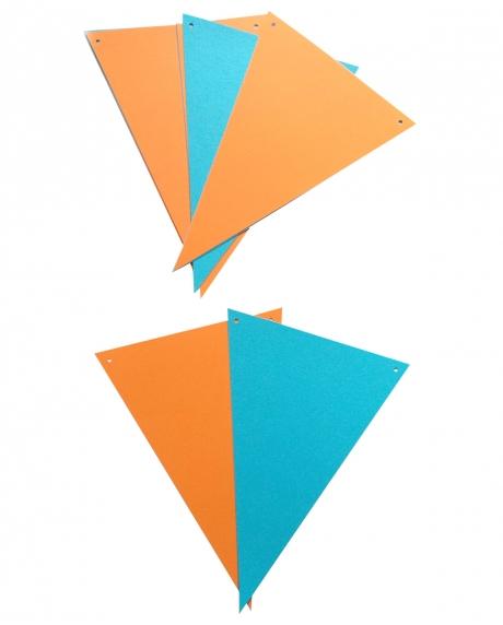 Ghirlanda stegulete somon si bleu