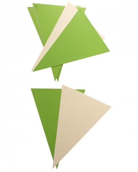 Ghirlanda stegulete verde crud si crem