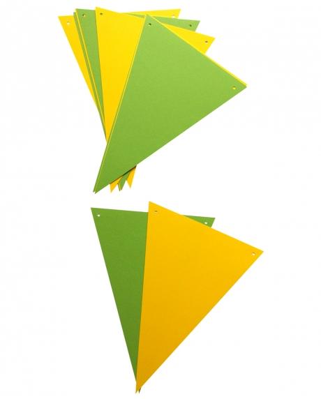 Ghirlanda stegulete verde crud si galben