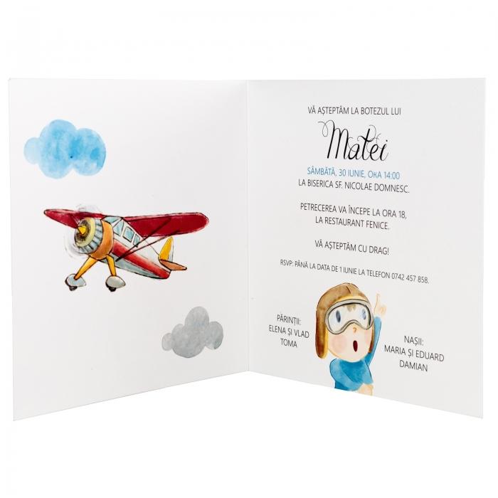 Invitatie botez Micul aviator