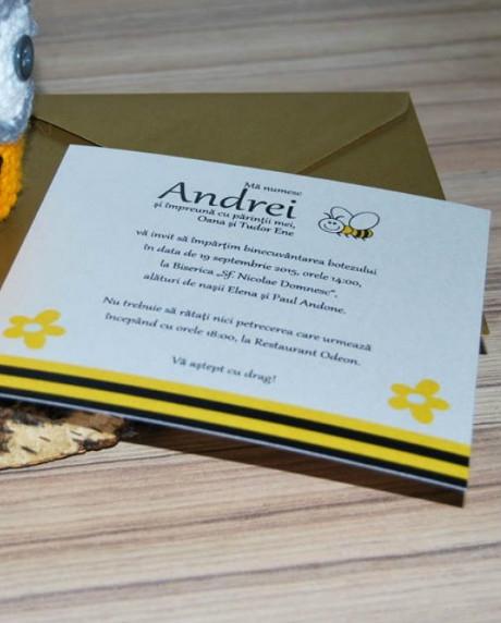 Invitatie botez Albinuta