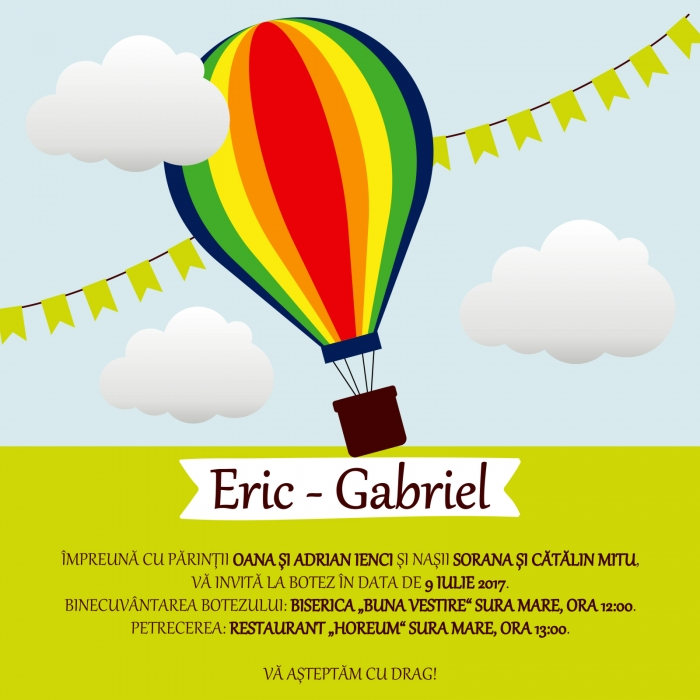 Invitatie electronica botez explorator multicolor 0