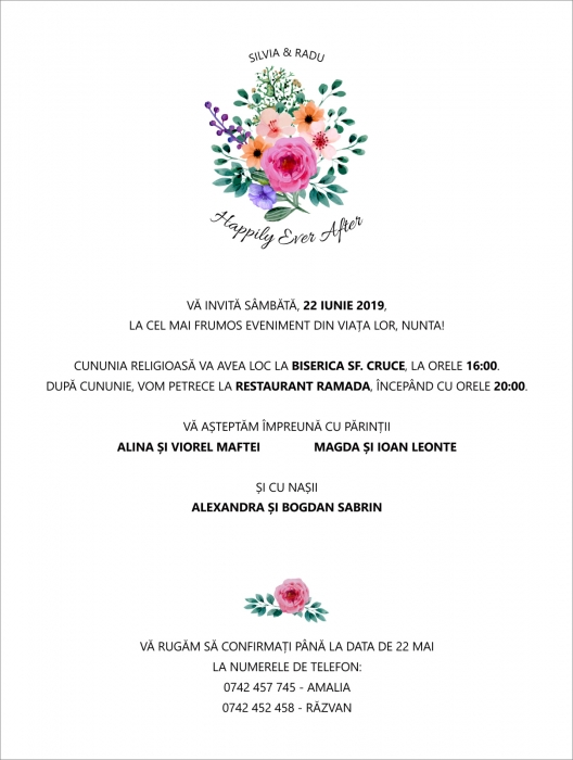 Invitatie electronica nunta Happily Ever After 0