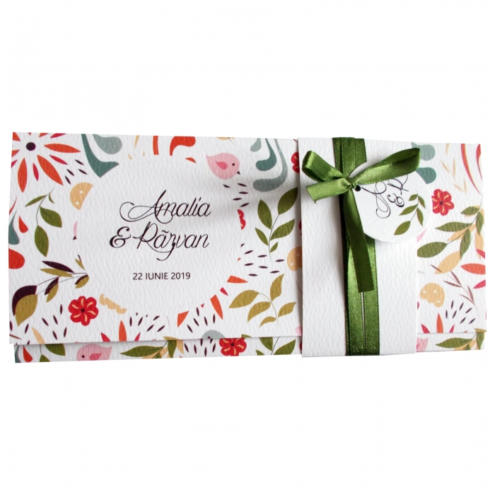 Invitatie nunta pattern floral 2