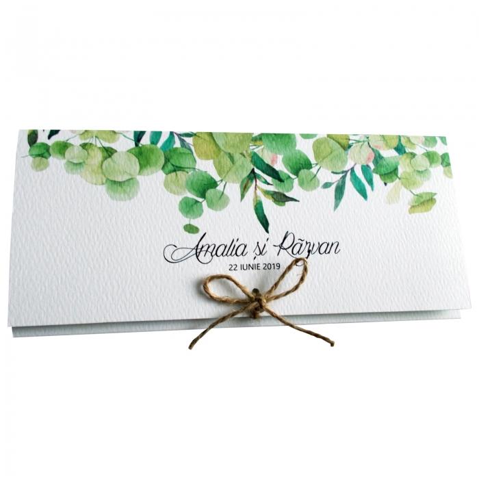 Invitatie nunta frunze verzi 4