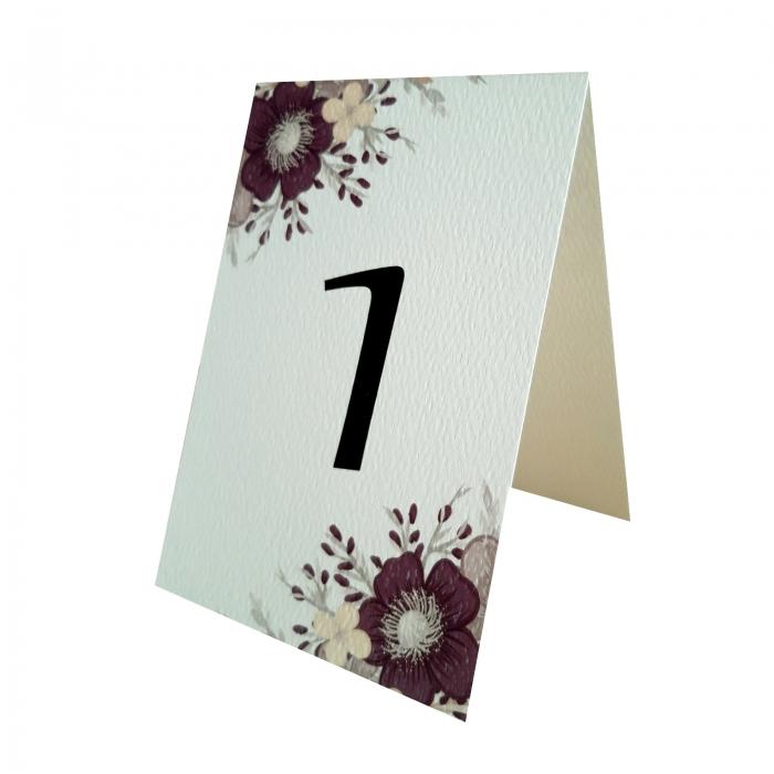 Numere mese nunta cu floare mov 0