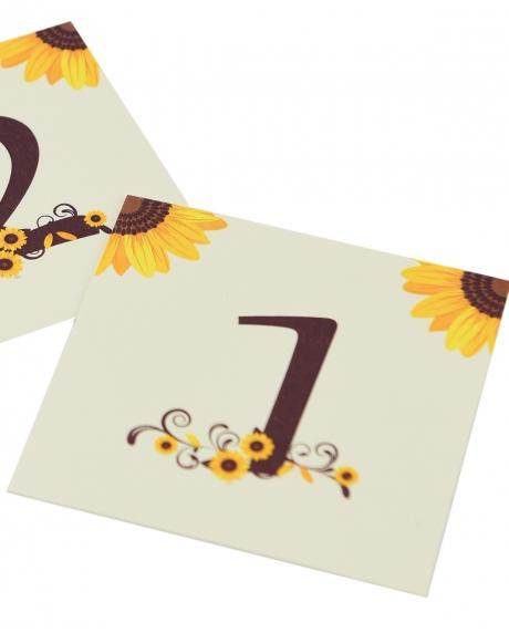 Numere mese postcard floarea-soarelui