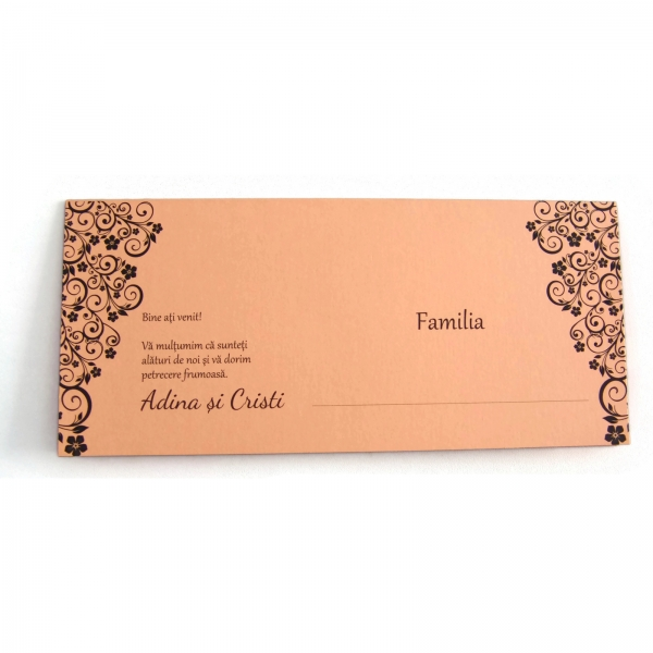 Place card somon cu motive florale 2