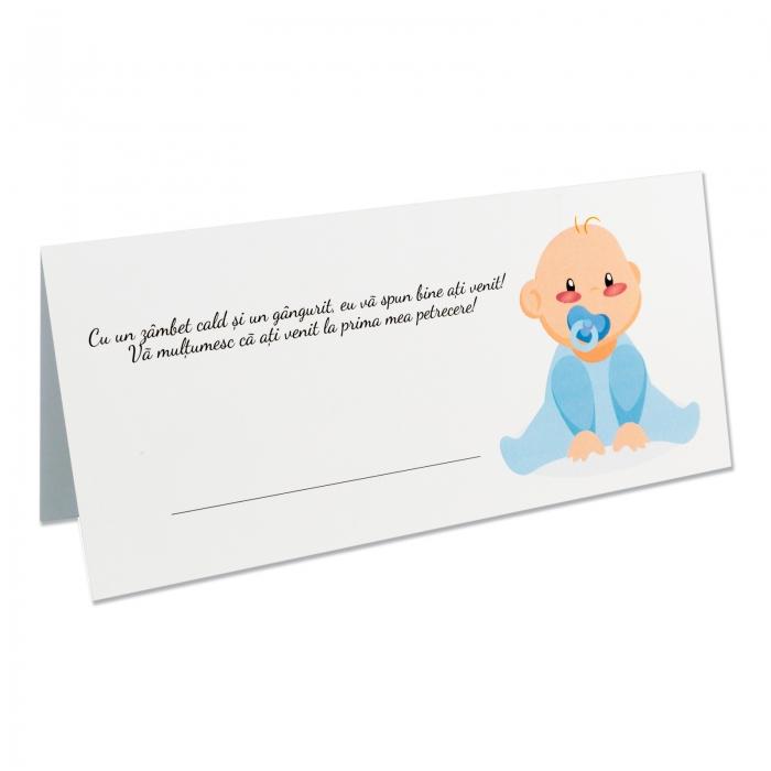Place card - plic de bani - botez bebe baietel
