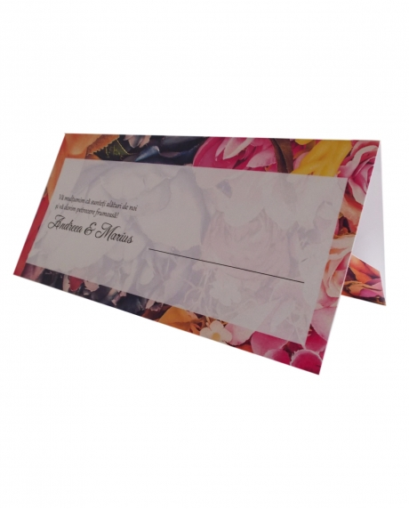 Place card floral dark background 0