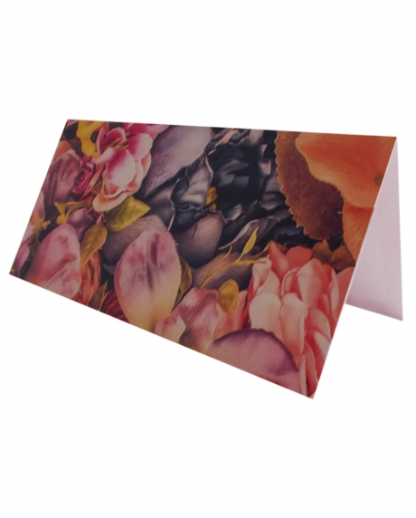 Place card floral dark background 4