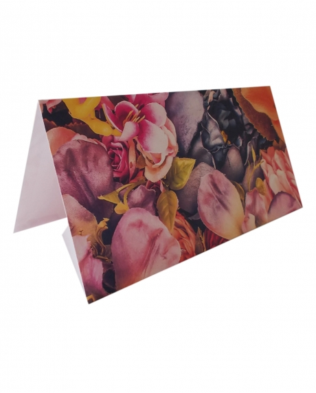 Place card floral dark background 6