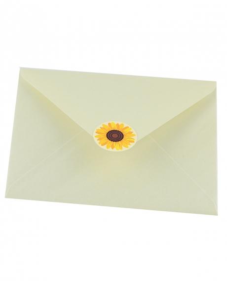 Plic alb sidef floarea-soarelui 1