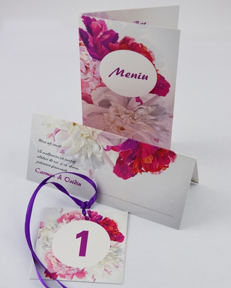 Place card nunta floral 1