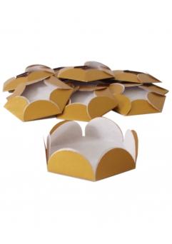 Chese aurii cupcake candy bar set 14 buc