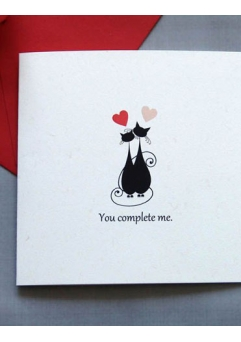 Felicitare Valentine / Dragobete CAT LOVE