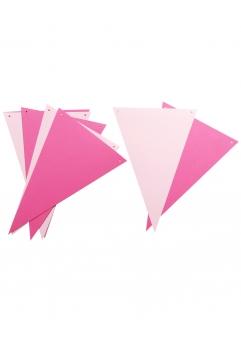 Ghirlanda stegulete roz ciclam si roz pastel
