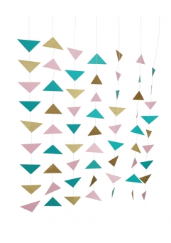 Ghirlanda triunghiuri boho style