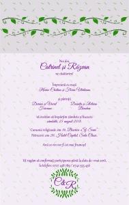 Invitatie electronica nunta iedera